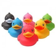 Alcoa Prime Set of 6 Holiday Rubber Duck Ducks Duckys Duckies Kids Baby Shower Bath Toy