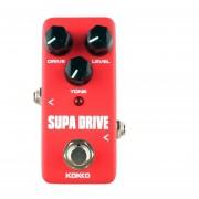 Kokko Fod5 Mini Guitarra Eléctrica Sobrecarga Monoblock Pedal De Efectos (rojo)