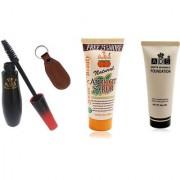 ADSwaterproof mascara / scrub (50gm) / white invisible foundation / Ashra keychain