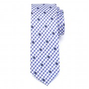 pentru bărbați îngust cravată (înălțime 1264) 7969 cu alb-albastru zaruri