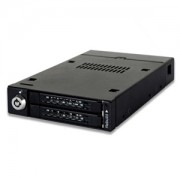 Rack intern Icy Dock ToughArmor MB992SKR-B 3.5 Front Bay Full Metal Dual Bay RAID 2.5 SATA Mobile Rack