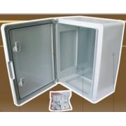 600x400x200mm műanyag (ABS) elosztószekrény, IP55/65