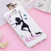 Para Huawei Y5 (2017) / Y6 (2017) Noctilucent IMD Dancing Girl Patron Nuevo Caso Suave De TPU Protector Cover