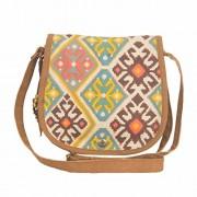 The House Of Tara Women's Sling Bag (Multi-Coloured) (B-022PEACOCKBLUE)