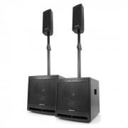 """Vonyx VX1000BT 2.2 set de altavoz activo 1000W subwoofer de 10"""" BT USB SD MIC AUX (170.104)"""