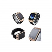 Agkey GSM Wrist Bluetooth Smart Watch Phone With SIM Card Slot HD Camera For Android Samsung Sony LG Huawei HTC Motorola Smartphones Gold