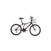 Bicicleta Bristol Peak, Aro 24, 21 Marchas, V-Brake, Preta - Houston