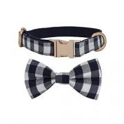 Fenyoung Collar de perro con pajarita para perro y gato de algodón para mascotas, collar con lazo, largo (35,5 58 cm de largo)