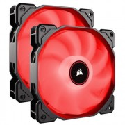 Corsair AF140 Quiet with Red led x2 ( twin pack ) | CO-9050089-WW