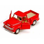 1955 Chevy Stepside Pickup Truck, Red Kinsmart 5330/6 D 1/32 Scale Diecast Model Toy Car