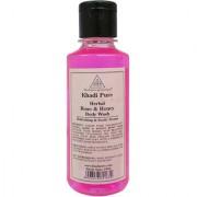 Khadi Pure Herbal Rose Honey Body Wash - 210ml.