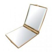 Oglinda Cosmetica Camry pentru Poseta cu Iluminare LED Marire 3x Ornament Swarovski Culoare Auriu