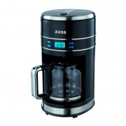 Cafetiera digitala Zass, 1000W, 1,5L, 12 cesti, display LCD