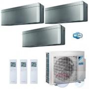 Daikin Trio Split 2.0+2.0+2.5 +5.2 kW Stylish Zilver Conditioner WiFi R-32 2xFTXA20AS +FTXA25AS +3MXM52N A+++/A++ 7+7+9
