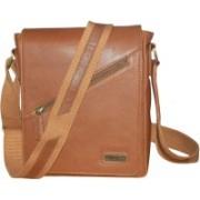 Kan Men & Women Brown Genuine Leather Shoulder Bag