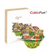 CubicFun City Scape Las Vegas Puzzle 3D 64 de piese