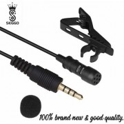SEGGO Lapel Microphone Omnidirectional Mic with Easy Clip On System Perfect for All Smartphones