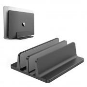 XWJ-004A Adjustable Width Double Slots Cooling Laptop Notebook Tablet Bracket Base - Black