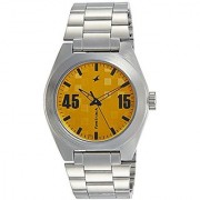 Fastrack Analog Yellow Dial Mens Watch-3110SM04