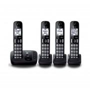 Kit 4 Teléfonos Inalámbricos Panasonic KX-TGD224-Negro