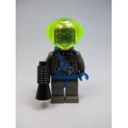 LEGO Space Insectoids Blue X Pattern Minifigure Alien