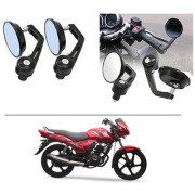 AutoStark 7/8 22cm Motorcycle Rear View Mirrors Handlebar Bar End Mirrors - TVS Star