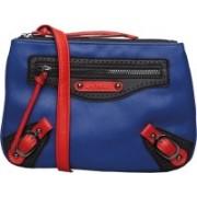 Caprese Women Casual Blue Polyester, PU Sling Bag