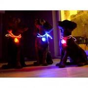 ELECTROPRIME® Anti Lost Pet Dog Cat LED Flashing Collar Bulb Safety Night Visible Flash