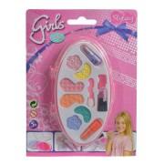 Set de machiaj pentru fetite, Beauty girls, Farduri si ruj pentru copii, +5 ani