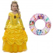 Rochie fetite Belle 3-4ani + Colac De Inot Printese Disney
