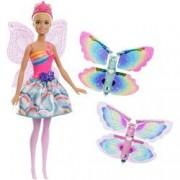 Papusa Mattel Barbie Dreamtopia Zana cu aripi de fluture detasabile