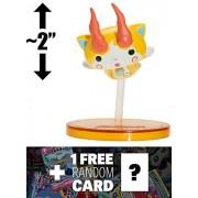 """Jibakoma Nyange Soul Storm: ~2"""" Yo Kai Watch Soultimate Move Figure Series #3 + 1 Free Yo Kai Watch Trading Card Bundle (499025)"""