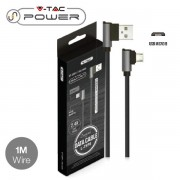 CAVO USB A MICRO USB 1 METRI NERO DIAMOND SERIES VT-5361-LED8635