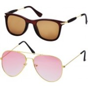 Freny Exim Aviator, Wayfarer Sunglasses(Brown, Pink)