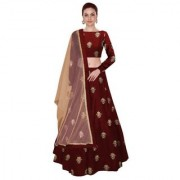 New Designer Maroon Colour Benglori silk material wedding party and function Wear lehengha Coli For Women And Girls