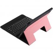 Apple K01 Ultra-thin eendelige Bluetooth Keyboard Case voor de iPad Pro 11 inch (2018) met beugel Function(Pink)