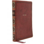 KJV Thinline Bible Giant Print Leathersoft Brown Thumb Indexed Red Letter Comfort Print par Nelson & Thomas