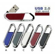 Memoria USB 2.0 16gb Hebilla Mosquetón Pen Drive