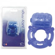 Climax Juicy Rings Blue Vibrating Cock Ring