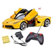 OH BABY BABY MUSICAL POWER WITH Remote Controlled YELLOW COLOR with Opening Door CAR FOR YOUR KIDS SE-ET-39