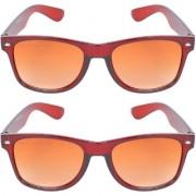 Aligatorr Combo Of 2 Wayfarer Unisex Sunglasses kc bn combCRLK