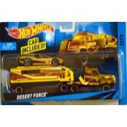 Hot Wheels City Rig Desert Force Car With Transporter