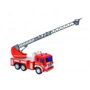 Masina de pompieri cu scara, pentru copii, Globo Wtoy cu sunete si lumini