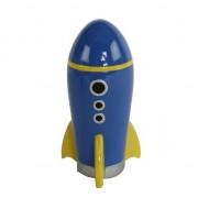 Geen Spaarpot speelgoed raket blauw