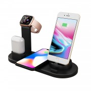 UD15 3 in 1 Rotatable Wireless Charging Dock Station for Apple iPhone/Android Device /Type-C Device - Black
