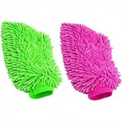 Car Cleaning Glove Cloth Micro Fibre Hand Wash(2 pcs)