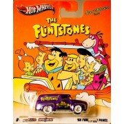 2011 - Mattel - Hot Wheels - Hanna Barbera - The Flintstones - '56 Ford F-100 Panel Truck - Purple - Rare White Wall Tires - Real Riders Series - New - Out of Production - Mint - Limited Edition - Collectible