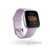 Smartwatch fitnes Fitbit Versa Lite, mov si argintiu (FB415SRLV)