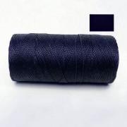 Macrame Koord - NACHTBLAUW / MIDNIGHT BLUE - Waxed Polyester Cord - Klos 2800 cm - 1mm dik