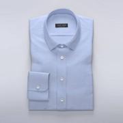 Tailor Store Ljusblå skjorta i diskret herringbone